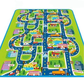 City Road Carpets For Children Play Mat For Children Carpet Baby Toys Rugs Developing Play Puzzle Mat Mats Goma Eva Foam mats