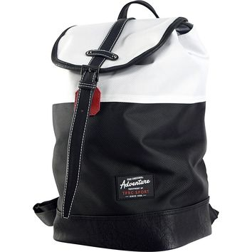 Travelers Club Heavy Duty 14 Laptop Backpack - White/Black