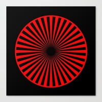 black and red Canvas Print by netzauge