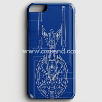 Star Trek Spaceship Blueprint Iphone 6 Plus/6S Plus Case | Aneend