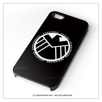 Retro Marvel S.H.I.E.L.D Logo iPhone 4 4S 5 5S 5C 6 6 Plus , iPod 4 5 , Samsung Galaxy S3 S4 S5 Note 3 Note 4 , HTC One X M7 M8 Case