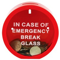 Fairly Odd Novelties Emergency Money Box Savings Bank in Case of Emergency Break Glass