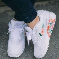 Custom Bright Flowers Nike Air Max 90
