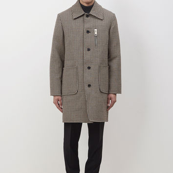 Totokaelo - Yang Li Beige / Navy / Brown Double Face Car Coat - $2,281.20