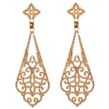 Brilliant Golden Filigree Earrings by LK Designs