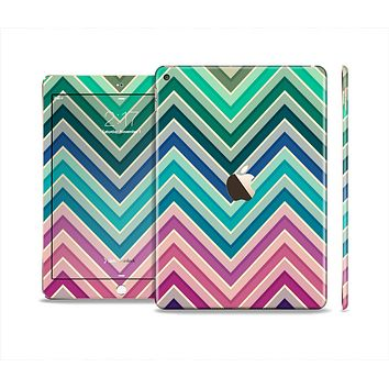 The Vibrant Colored Chevron Layered V4 Skin Set for the Apple iPad Air 2