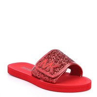 MICHAEL Michael Kors Girls' Eli Gear Glitter Slides | Dillards