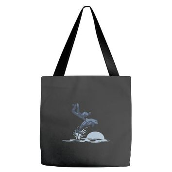 dolphin rider Tote Bags