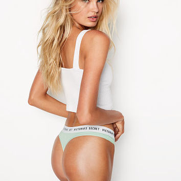 Logo Thong Panty - Stretch Cotton - Victoria's Secret
