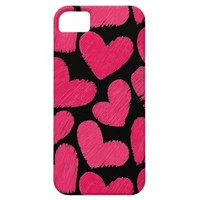 Red and black hearts iPhone 5 Case from Zazzle.com