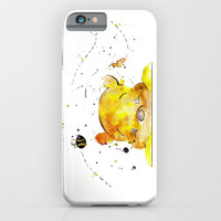 Yellow Bear iPhone & iPod Case by Salome
