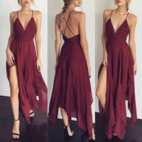 Burgundy Sunset Maxi Dress