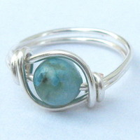 Turquoise Jasper Gemstone Ring In S.. on Luulla