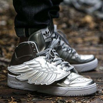 adidas jeremy scott wings 3 0 sliver men women sneaker