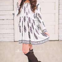 Days With You Chic Vintage Printed Dress-Plus Size