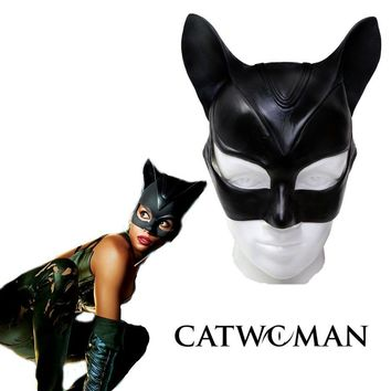 Catwoman Mask Batman Cosplay Costume Latex Helmet Adult Halloween