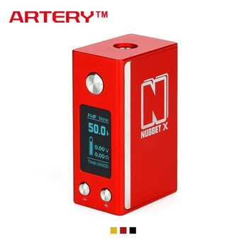 New 2000mAh Original 50W Artery Nugget X TC Box MOD with 50W Max Output & 1.5A Quick Charge & 0.96-inch Screen E-cig Vape TC Mod