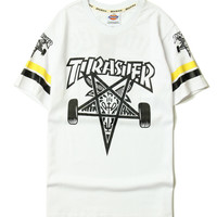 2017 Thrasher T Shirt Men Women flame flames Thrasher T shirts magazine Hip Hop Streetwear  Trasher T shirts