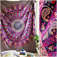 The Allianah Pink Purple Mandala Boho Bohemian Tapestry