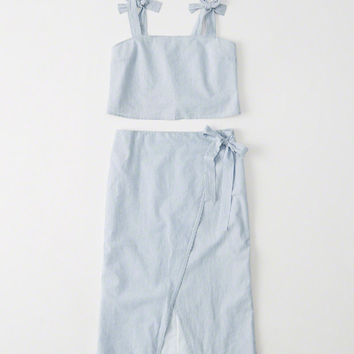 Womens A-Line Midi Skirt and Top Set | Womens Dresses & Rompers | Abercrombie.com