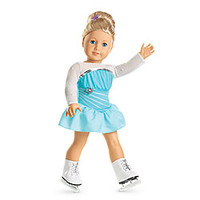 American Girl® Clothing: Sparkly Skating Set for Dolls + Charm