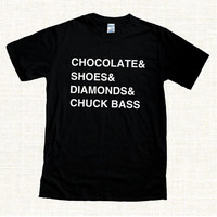 Diamonds Chuck Bass T Shirt Ed Westwick Gossip Girl Christmas Fan Tee