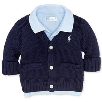 Ralph Lauren Baby Sweater, Baby Boys Icon Cardigan - Kids Baby Boy (0-24 months) - Macy's