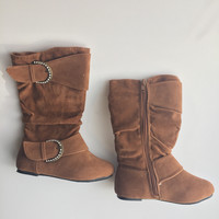 Toddler Faux Suede Brown Boots