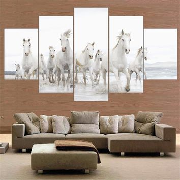 Unframed Horse Canvas Painting Animal Posters and Prints Home Decor Wall Painting for Room 5 Piece Canvas Art Wall Art Horse