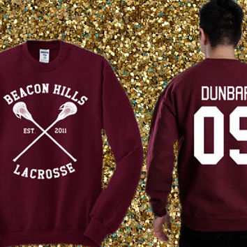 Beacon Hills Lacrosse - Liam Dunbar 09 Sweater , crewneck sweater available for men and woman unisex adult