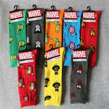 1Pair Heroes Series Superman/Iron Man Long Socks Winter Socks Stockings Socks