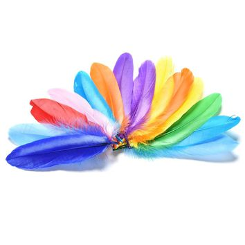 20Pcs/Lot Colorful Rooster Saddle Cape Craft Pheasant Feathers Home Decoration Art Craft Making Pretty Feather DIY Toy