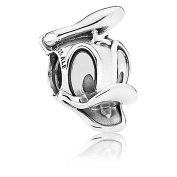 Disney Parks Donald Duck Portrait Sterling Silver Charm Pandora New