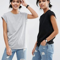 ASOS The Ultimate Easy T-Shirt 2 Pack SAVE 10% at asos.com
