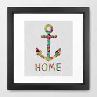 you make me home Framed Art Print by Bianca Green | Society6