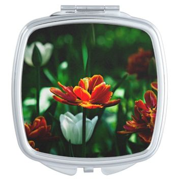 Red Tulip - His Majesty the King Compact Mirror