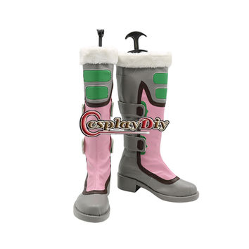 Game Role Mei Shoes Boots Adult Women's Flats Knee High Boot Halloween Carnival Shoes Custom Made