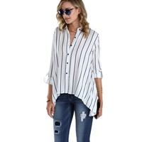 Sale-black And White Striker Blouse