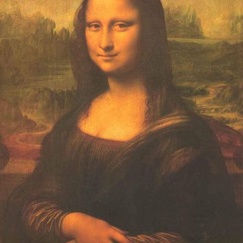 Mona Lisa Art Poster 23x35