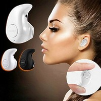 Newest Smallest Wireless Invisible Bluetooth Mini Earphone Earbud Headset Headphone Support Hands-free Calling For iPhone Samsung Xiaomi Sony Lenovo HTC LG and Most Smartphone. (White)