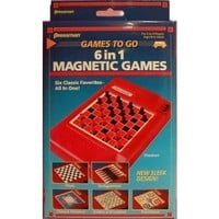 Pressman Toy 2261-06 6 in 1 Travel Magnetic Games