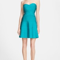 Women's Herve Leger Strapless Fit & Flare Bandage Dress,