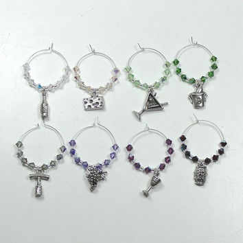 Wine Charms - Wine Theme, Swarovski