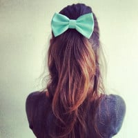mint  Teal hair bow