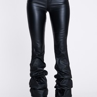 Revolution High Waist Stacked Bottom Vegan Leather Pant