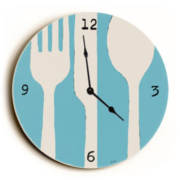 Silverware Unique Wall Clock by Artist Lisa Weedn