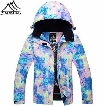 New Ski Jacket Women 2018 Mountain Skiing Jackets Winter Outdoor Snowboard Jacket Waterproof Thicken Warm Ski Jackets Girls Coat
