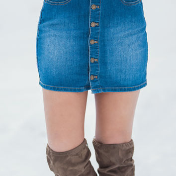 e99c4efdfd Country Calling Denim Button Up Skirt from NanaMacs Boutique