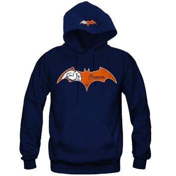 "Bat Denver Broncos Hoodie ""2 Prints"" Sports Clothing"
