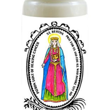 Saint Bertha Patron of Healing Cancer 8 Ounce Scented Soy Prayer Candle